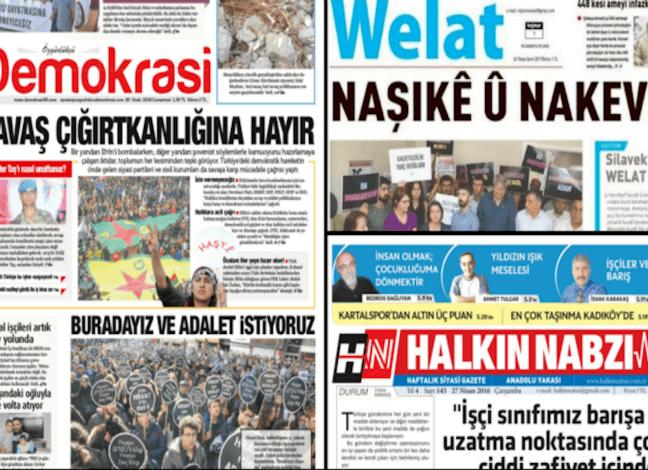 Turquía cierra 3 periódicos más y un canal de televisión