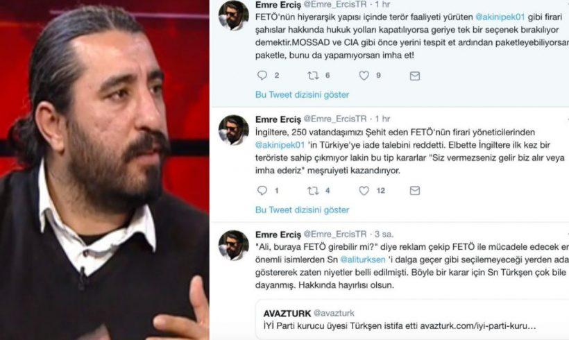 """Periodista progubernamental dice que los """"fugitivos"""" vinculados a Gülen deben ser secuestrados o asesinados"""