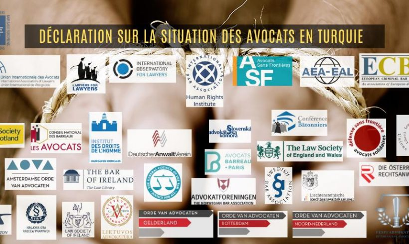 Más de 30 organizaciones de abogados y Colegios de abogados publicaron una declaración conjunta sobre la situación de los abogados en Turquía