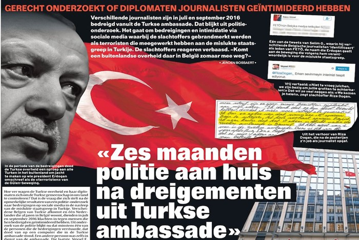 Periodistas belgas amenazados por la Embajada de Turquía en Bruselas