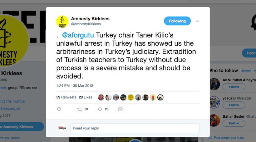 La oficina local de Amnistía Internacional pide a Kosovo que evite la extradición de profesores turcos
