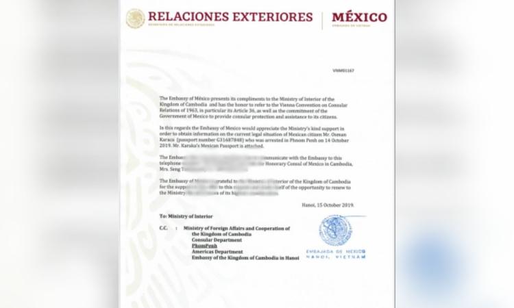 Turquía pide la extradición de un ciudadano mexicano de origen turco de Camboya